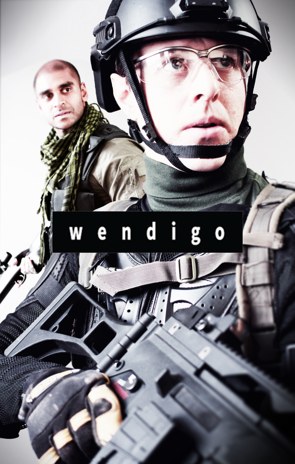 WENDIGO  Its our newest and most exciting project yet!  In association with Gopher It Productions and with Phoenix Aerial Media, we are pushing our limit with technology and creativity in some truly intense and complex battle scenes!  Wendigo follows six ex-PMC's, now mercenaries, on a mission to investigate and clear dangerous squatters from a facility on a recently purchased plot of land.    When they arrive, they find much more than they bargained for, and must fight to survive while uncovering the haunted and deadly history of the land and its people.