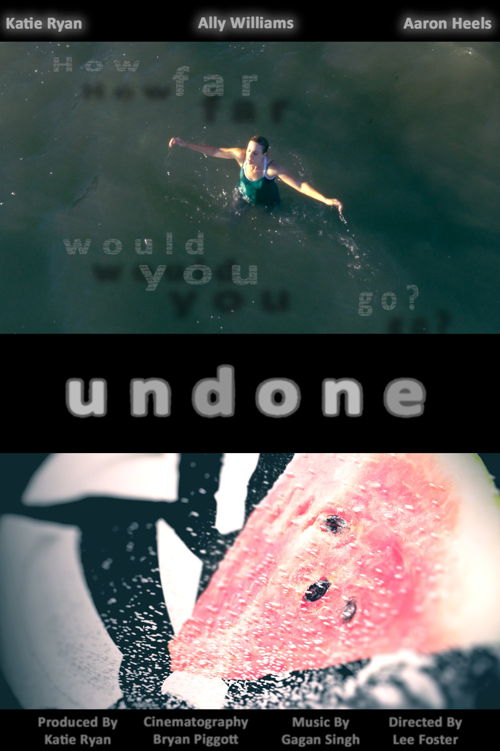 "UNDONE - SHORT  This was Foster Films' submission for the Toronto 48 Hour Film Race.  Our film was selected as part of the ""Best Of 2016"" and walked away with two awards:   Best Original Score  for Gagan Singh  and   Best Line Delivery  for Aaron Heels."