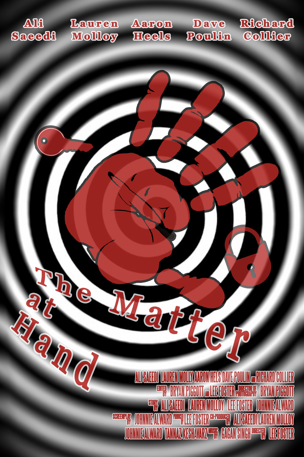 THE MATTER AT HAND - SHORT  The Matter At Hand is currently in post-production.  Developed in association with One Take Wonder Bros., it is the story of Karim - a deaf locksmith who sets out on a mission to save his business.  He enlists the help of a young interpreter and embarks on a dangerous mission of redemption.