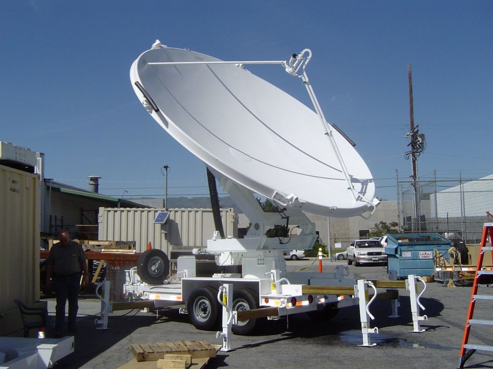 3 meter Transportable Satellite Communication Antenna System