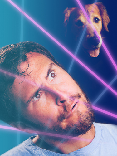 I didn't want to pick on anyone else's embarrassing photo so I created this glorious self-portrait without the consent of my dog and part-time assistant, Buddy.