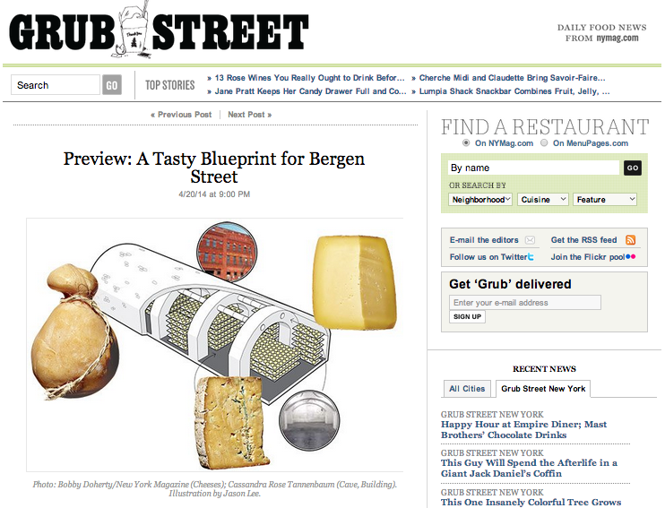 New York Magazine: Preview: A Tasty Blueprint for Bergen Street