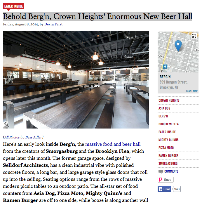 Eater: Behold Berg'n, Crown Heights' Enormous New Beer Hall