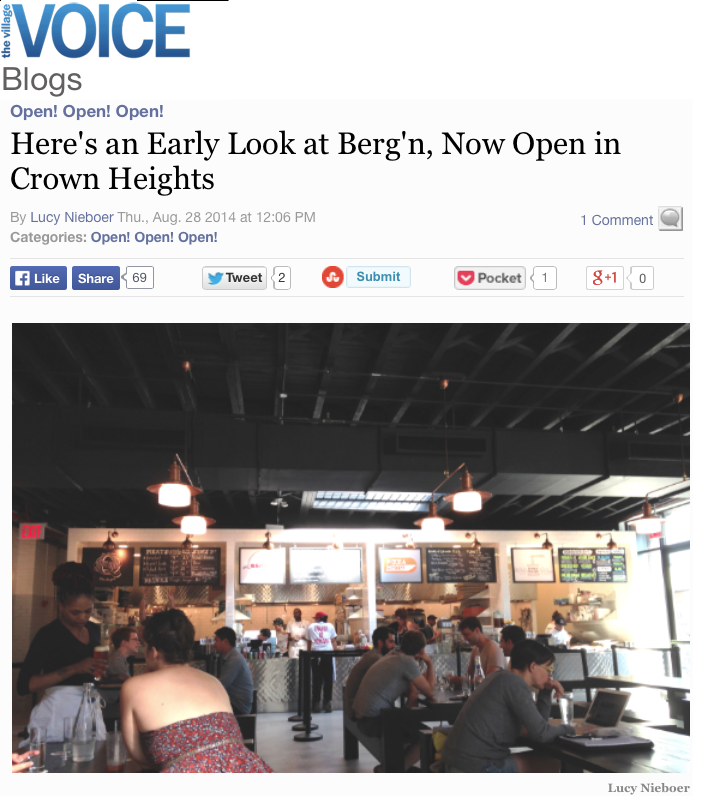 Village Voice:  Here's an early look at Berg'n, now open in crown heights