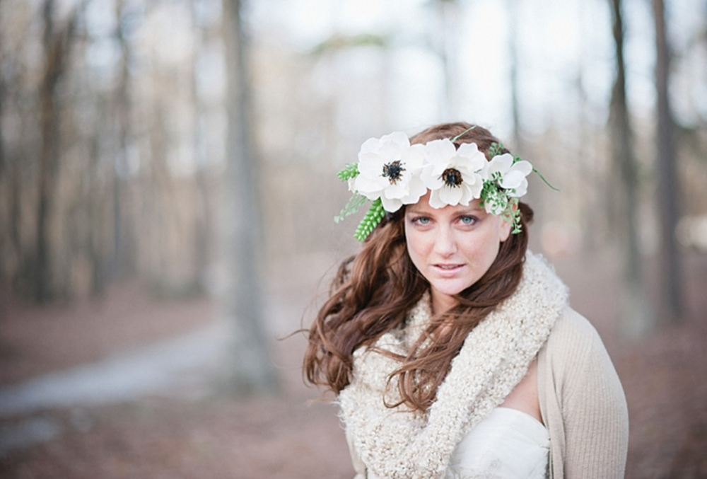 Woodland wedding inspirational shoot featured on The Bride Link