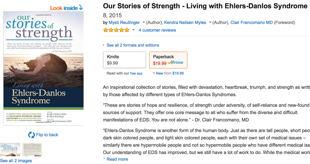 "m.newsom photography's photos depicting ehlers-danlos-syndrome are featured on the cover of ""Our Stories of Strength"" as well as in the insert. The book is available on amazon."