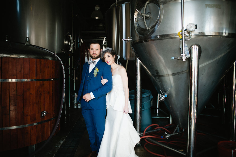 Amy and Justin Get Married at Avondale Brewery