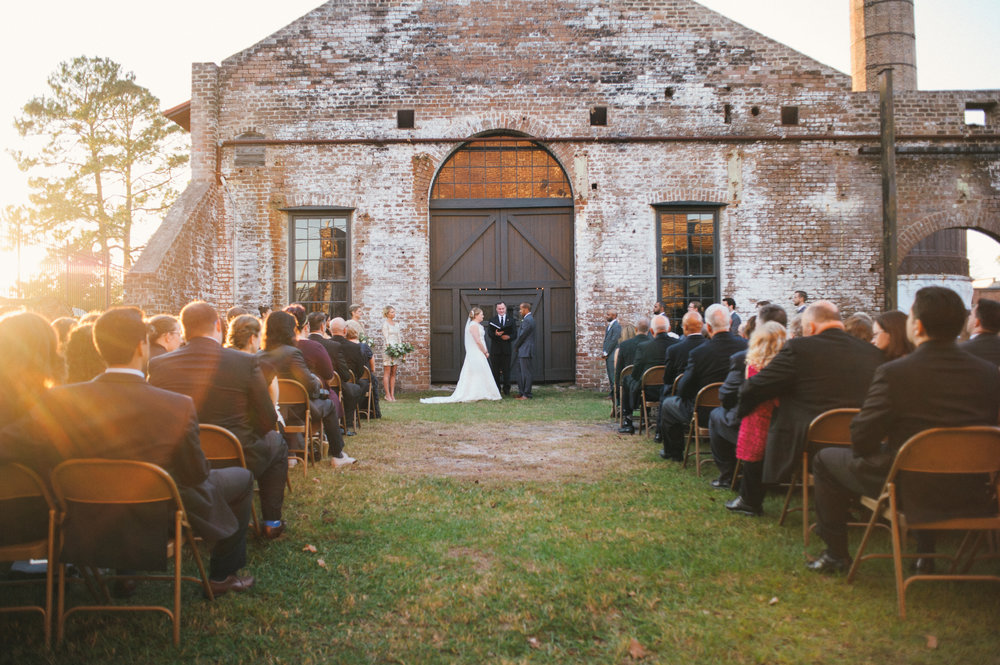 Courtney and Adam's Savannah Railroad Museum Wedding