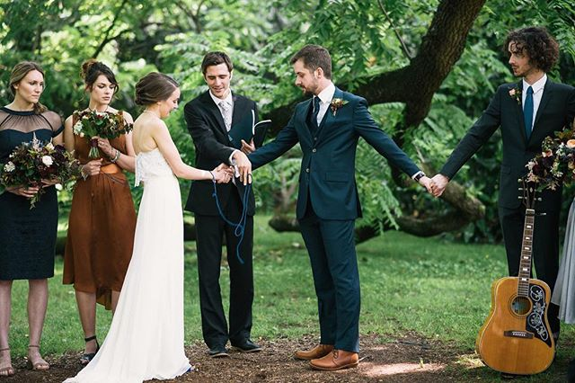 Lauren and Tim's ceremony was beautifully intimate. They performed a hand fasting ceremony with their guests as they exchanged vows, inviting their family and friends into their journey of marriage.