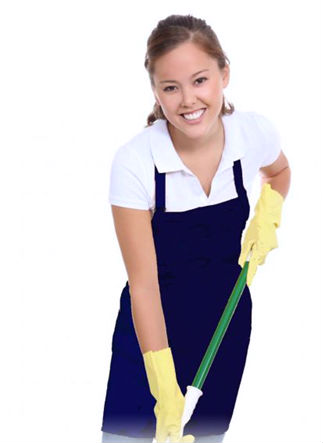 housekeeper cleaning