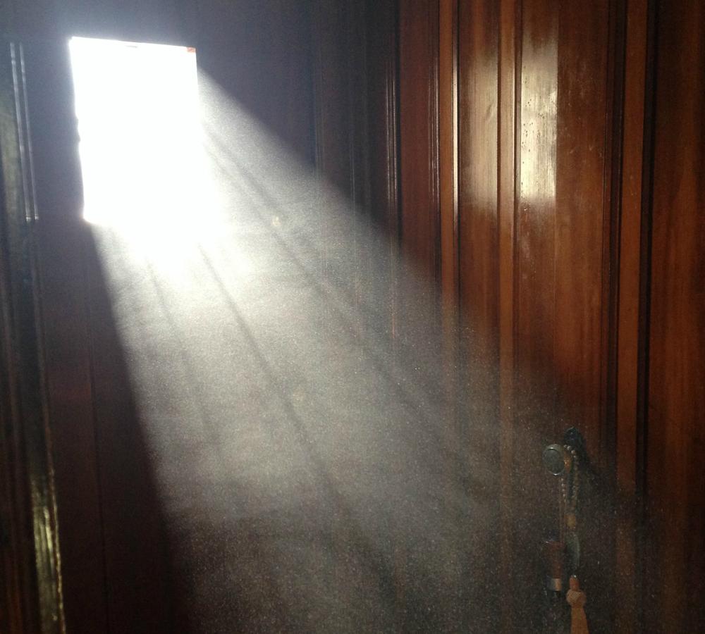 dust in a window