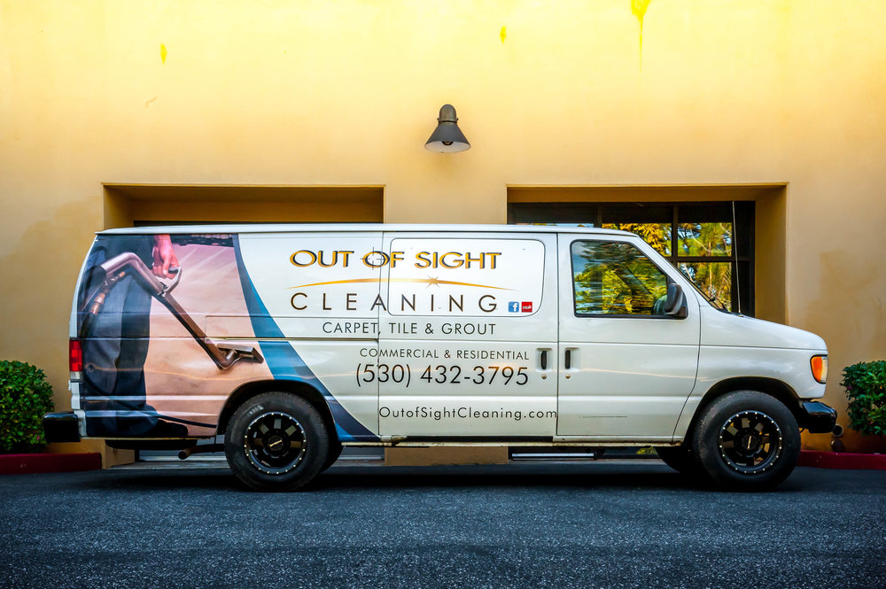 Carpet Cleaning Van in Nevada City
