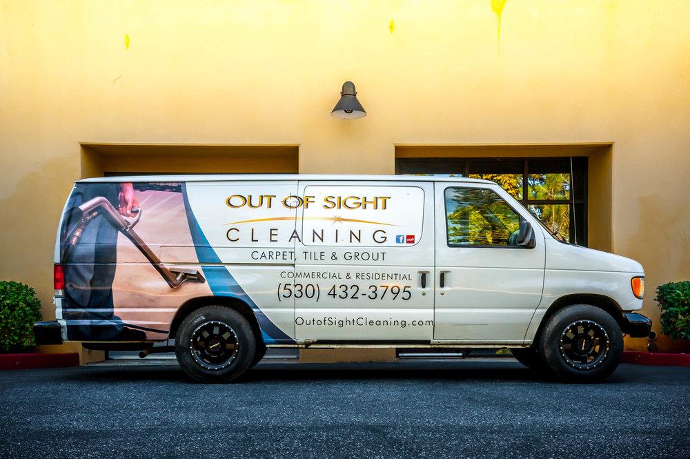 Carpet Cleaning Van in Nevada City