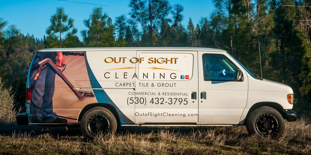 Carpet Cleaning Van In Grass Valley