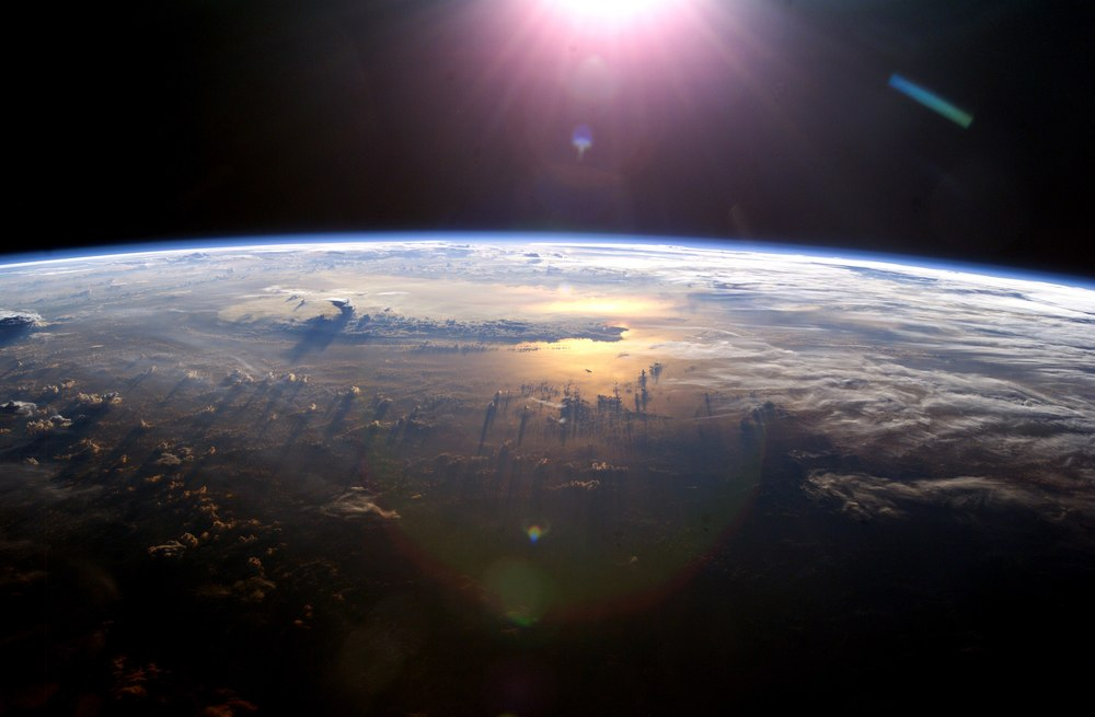 """  Pacific Ocean From Space  "" by   blueforce4116   is licensed under   CC BY-NC-ND 2.0   and cropped from the original."
