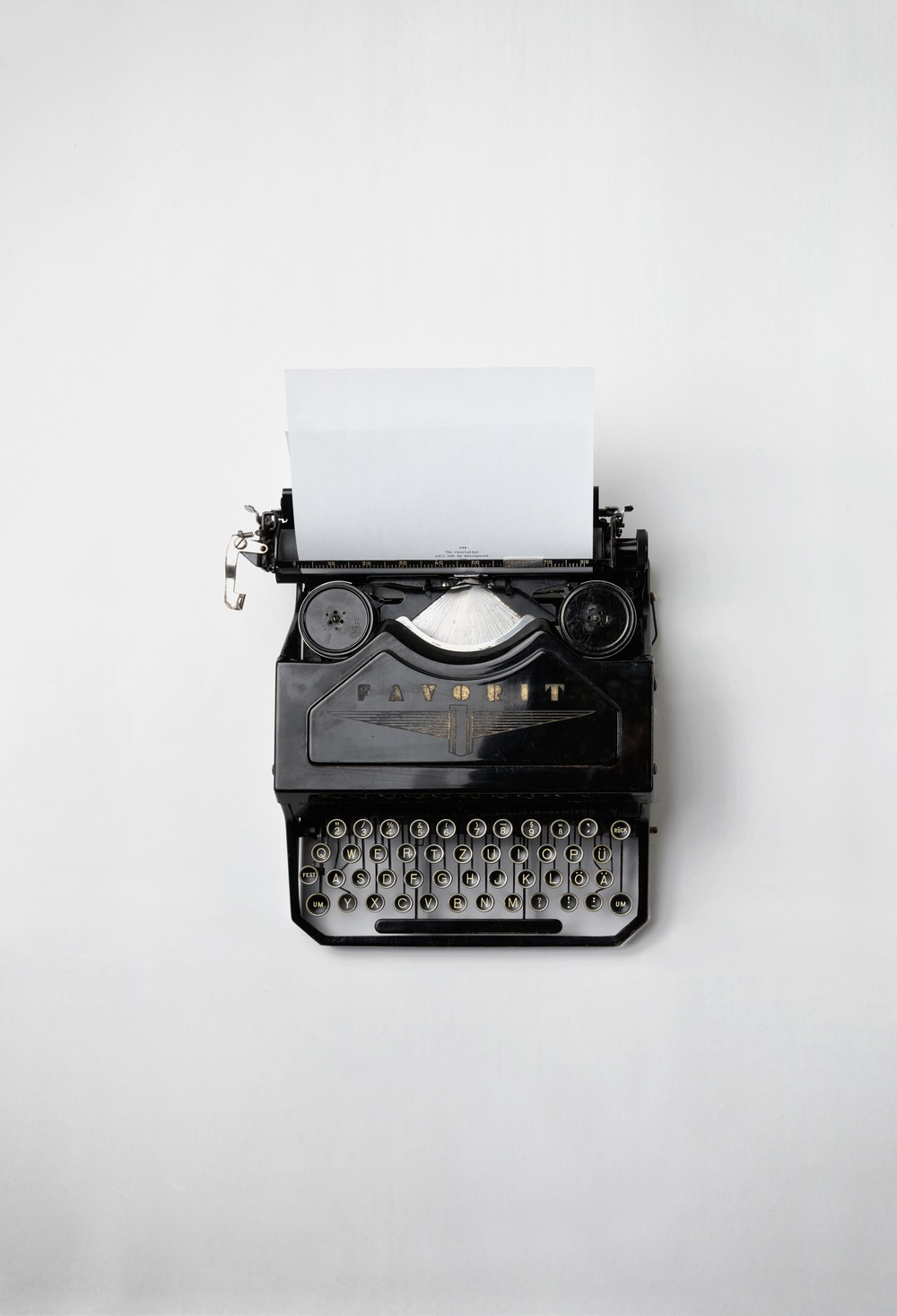 """  Typewriter  "" by   Florian Klauer   is licensed under   CC0 1.0   and cropped from the original."