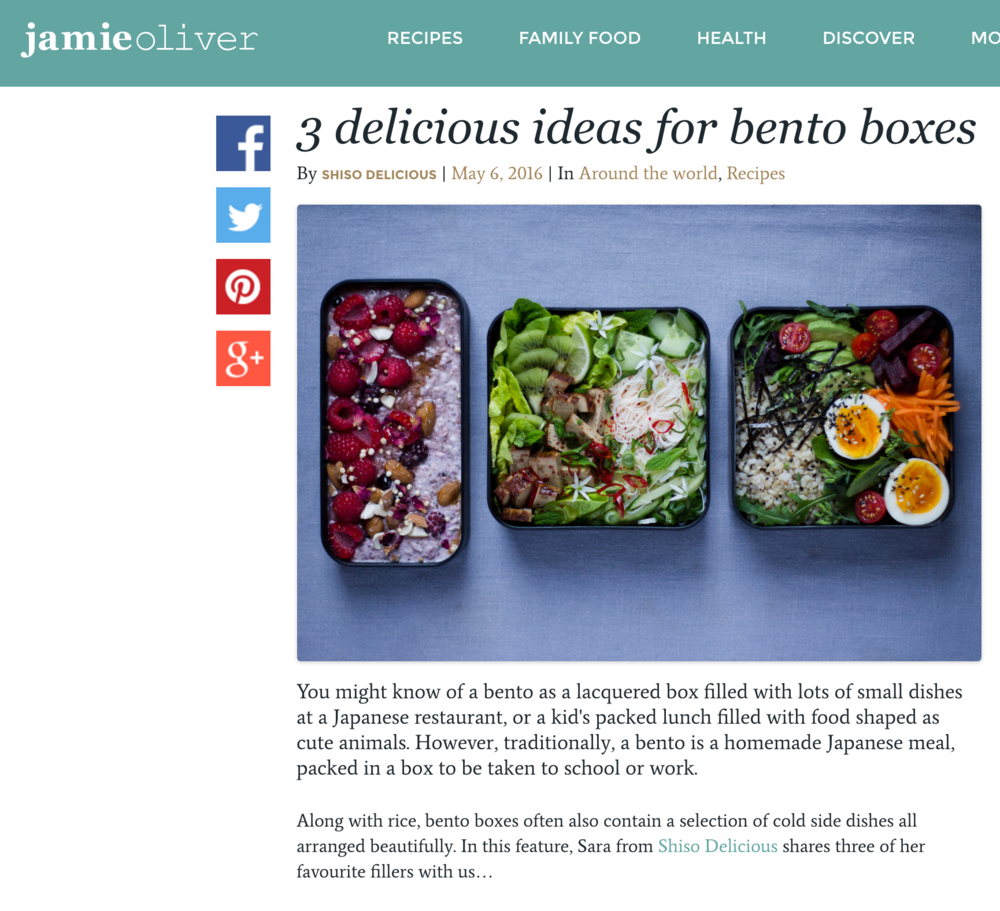 Shiso Delicious | Jamie Oliver Bento feature