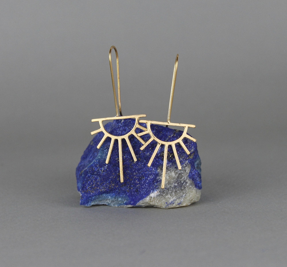 Marcia Vidal - Gold Sunburst Earrings