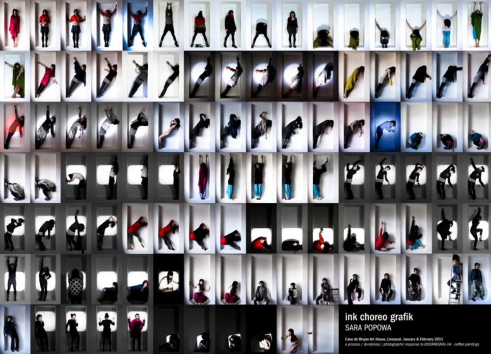 'ink choreografik'Durational photographic performance.Jan-Feb 2011