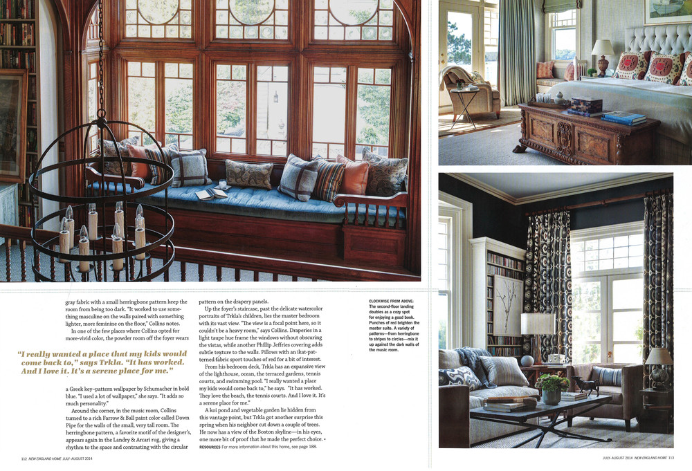 New England Home July August 2014 Honey Collins Interior Design