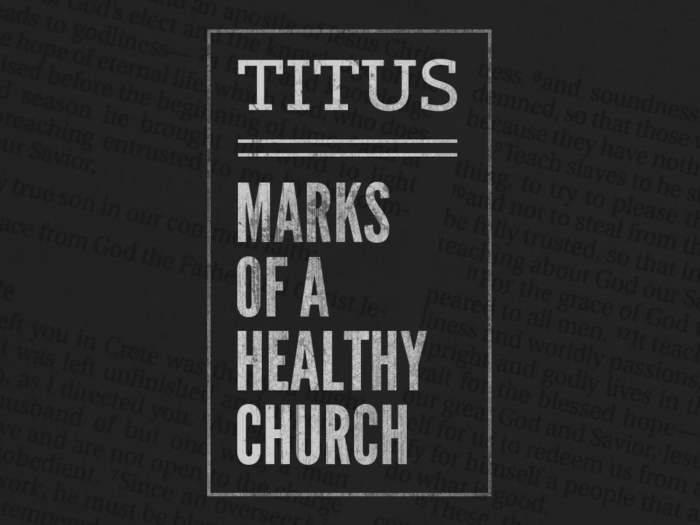 Titus—Marks of a Healthy Church! The Apostle Paul was a man on a mission his whole life. First, as a Jewish Pharisee he was self-commissioned to exterminate these upstart followers of Jesus. Then, after a personal, face-to-face encounter with the risen Jesus, his mission in life took a 360 degree turn. Near the end of his life he wrote this letter to a young man he had personally led to faith in Jesus. It's a short but powerful letter that he used to commission Titus to his ministry in Crete.