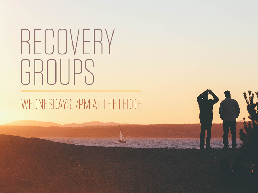 "R  ECOVERY GROUPS   We offer a Christian 12-Step recovery program for men and women struggling with addictions of all kinds called, ""Life With God in Recovery."""