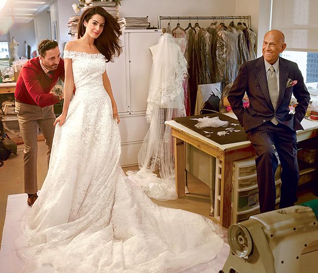 Six Celebrities who got Married in Oscar de la Renta — i love love