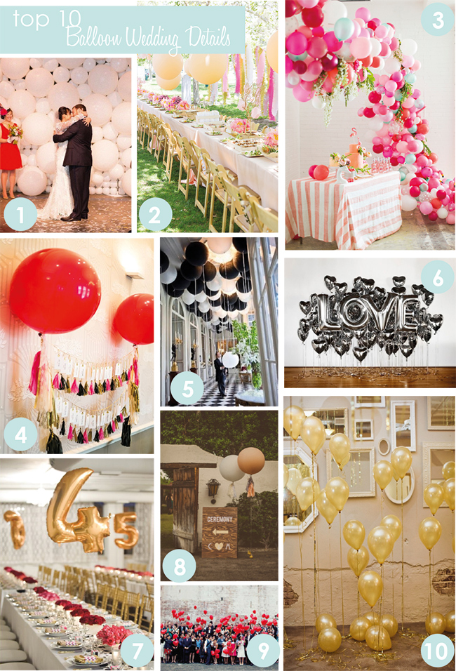 Love Balloon Backdrop 7 Table Numbers 8 Ceremony Sign 9 Wedding Guest