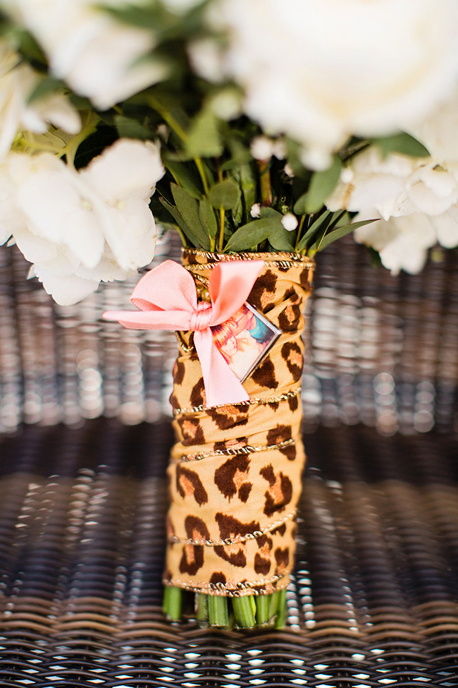 leopard wrapped bouquet