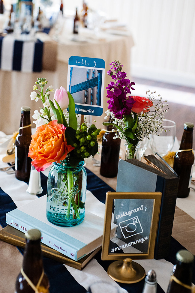 Boston and book tablescape