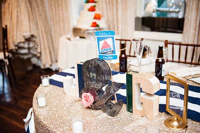 sequined sweetheart table