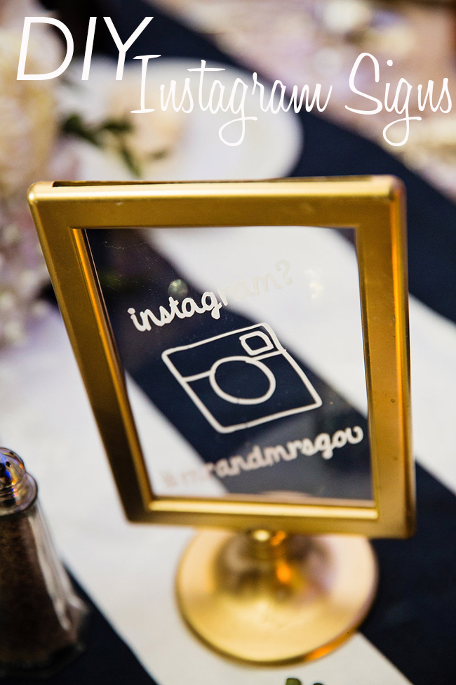 DIY Wedding Instagram Signs
