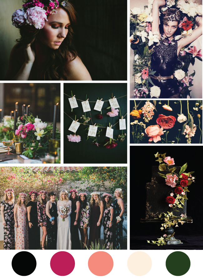 Moody Floral Mood Board
