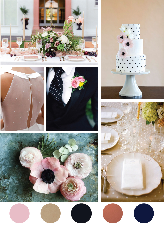 Blush and Black Polka Dot Wedding Inspiration