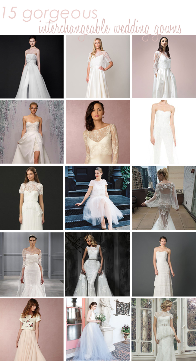 15 amazing convertible wedding dresses