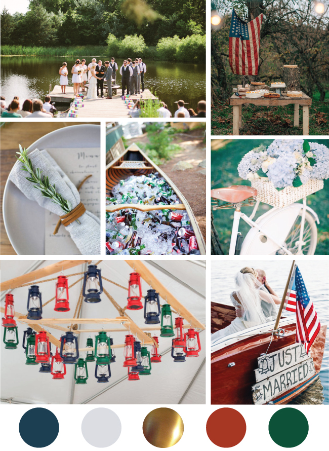 Nostalgic Fourth of July Wedding Mood Board