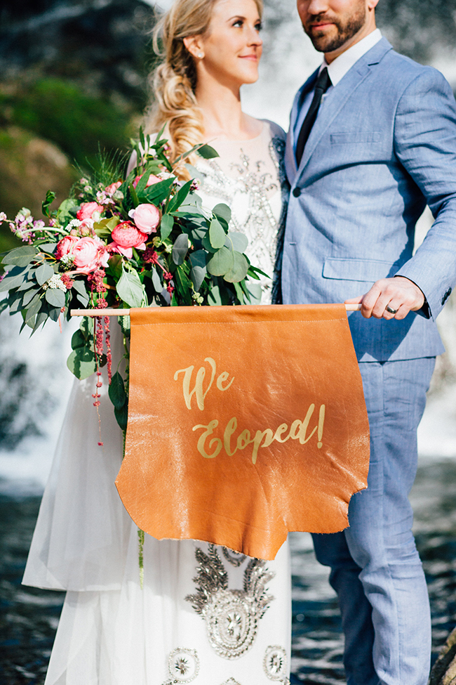 elopement sign