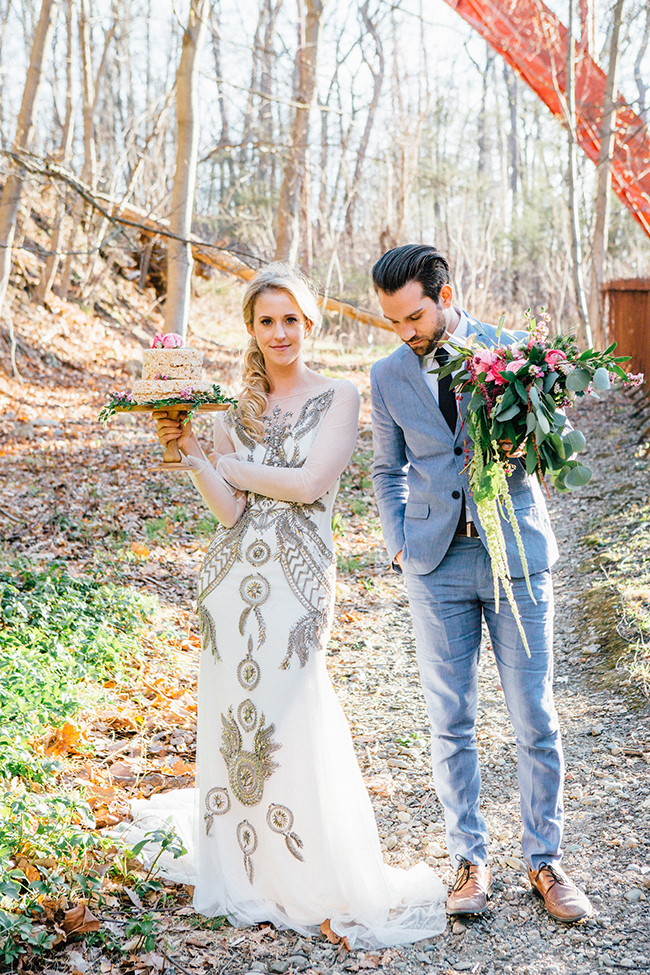 woodsy elopement