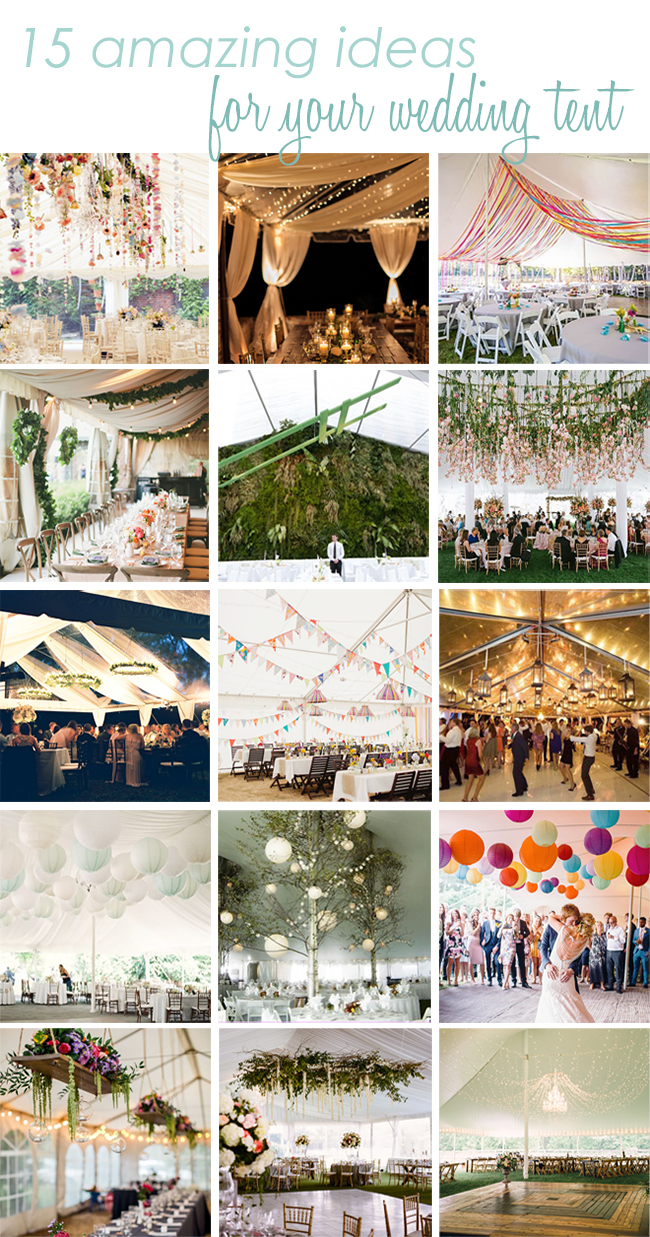 Ideas to decorate a wedding tent