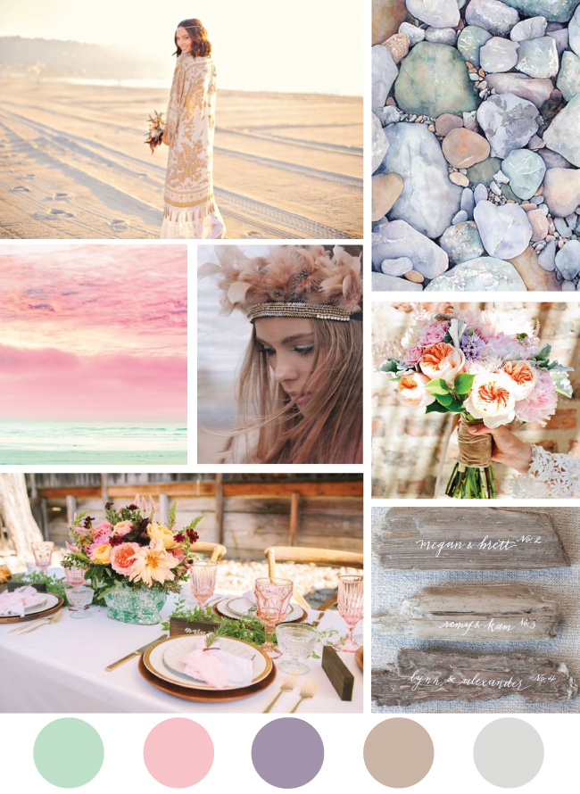 Sea glass wedding inspiration