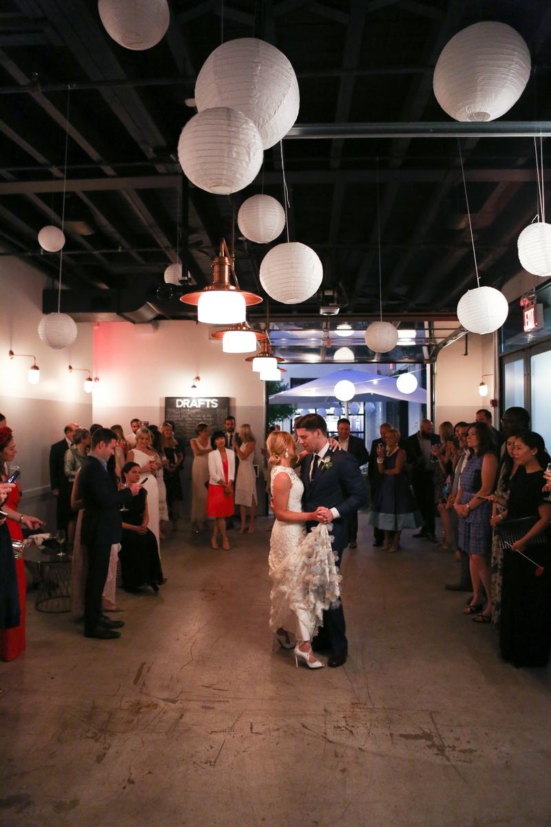 Paper lantern dance floor