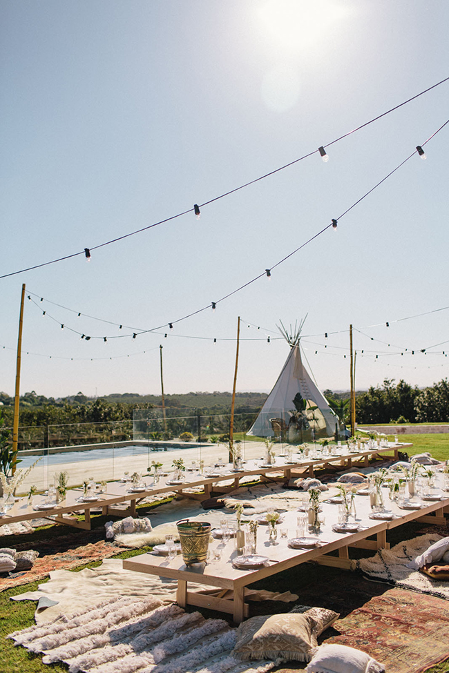 alfresco picnic wedding