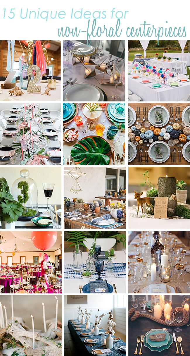15 Ideas for Non-floral centerpieces