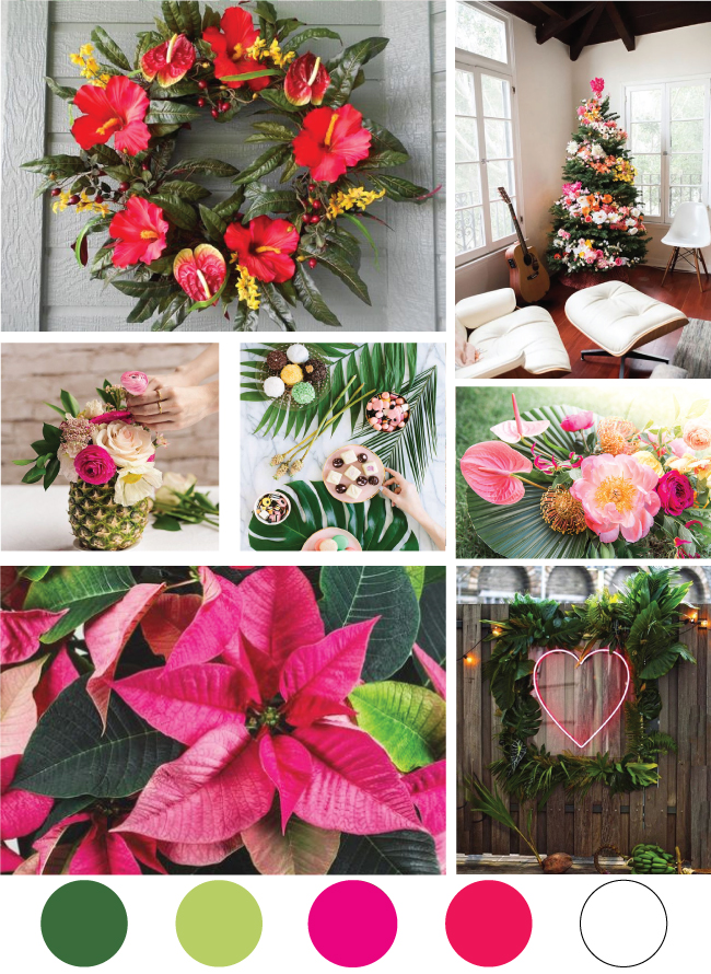 Tropical Christmas Mood Board