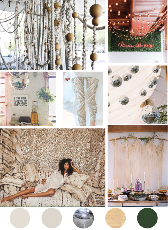 Boho Disco Mood Board