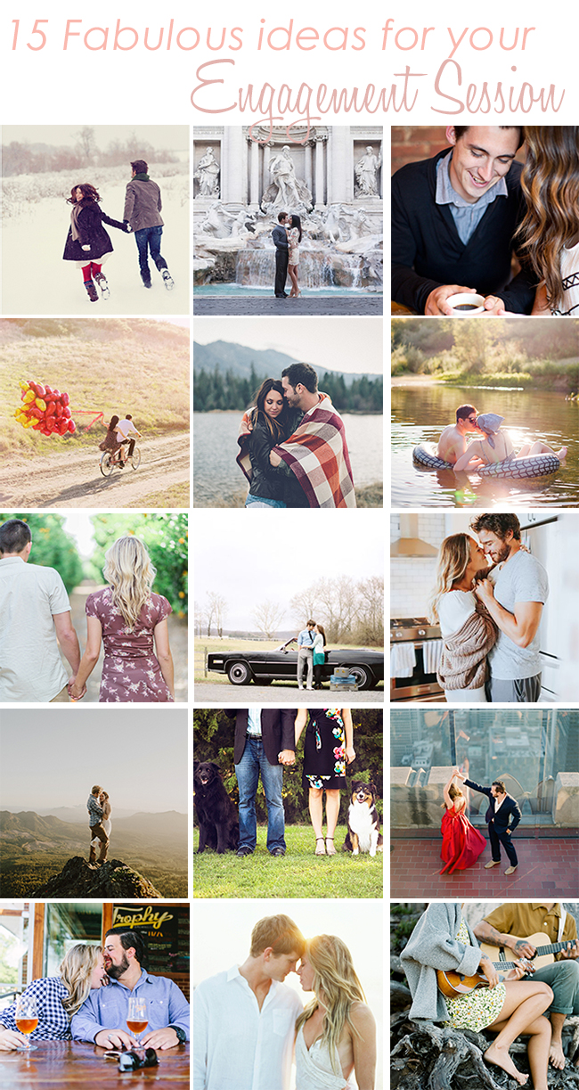 15 Engagement Session Ideas