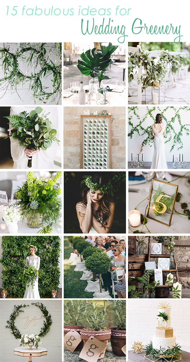 Greenery Ideas for your Wedding