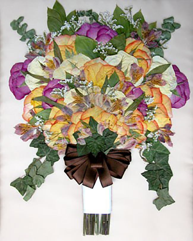 Personalized wedding gift idea - Pressed Wedding Bouquet