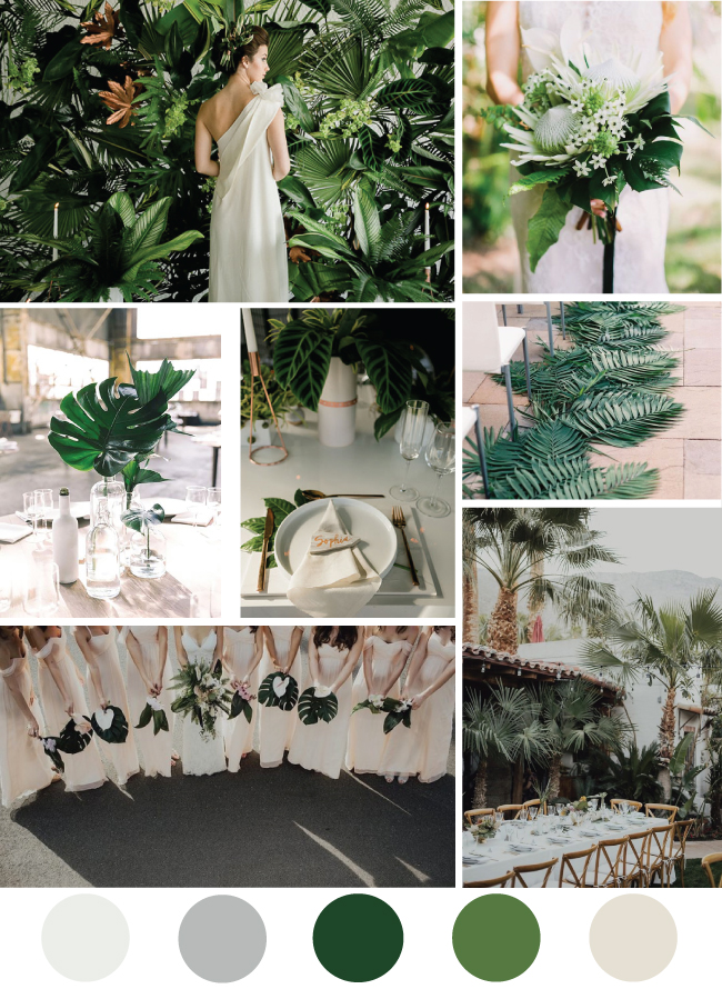 Modern Tropical Wedding Inspiration