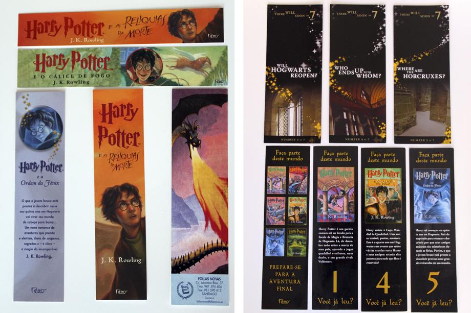 Marcadores HP <3 (queria completar as séries de marcadores que estão ao lado direito, são do lançamento do último livro)